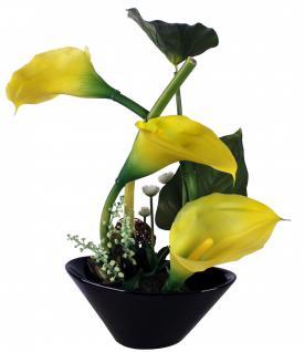 Kunstblume mit Untersetzer, Deko, Seidenblume, Blumen, künstliche Blume, Kunstpflanze B1002