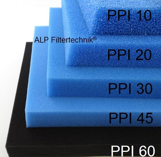 Filterschaumstoff PPI 10 - 3cm Filtermatte Teichfilter Biofilter