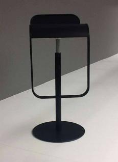 Lapalma Lem Barhocker (H: 55-67cm), schwarz lackiert (S7905)