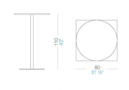Lapalma Brio Bistrotisch Fix quadratisch 80 (H:110cm)
