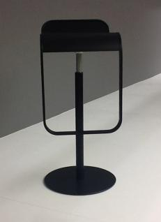 LaPalma Lem Barhocker (H: 66-79cm), schwarz lackiert (S8005)