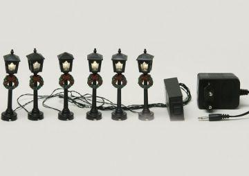 STRASSEN LATERNE 6er Lichterkette VILLAGE für Licht