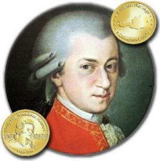 Gedenkmünze zum 250. Geburtstag von Wolfgang Amadeu