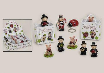 Glücksbringer Glücksschwein oder Kaminkehrer in Tüt - Vorschau