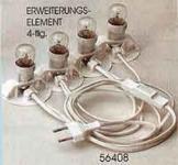Elektrische 4er Beleuchtung für 4 Lichthäuser