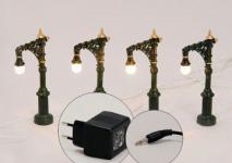 STRASSEN LATERNE 4er Lichterkette STRASSE für Licht