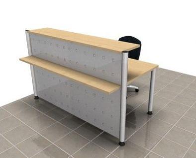 Empfangstheke gerade 172 cm Empfangstresen Bürotheke Büromöbel - Vorschau 1