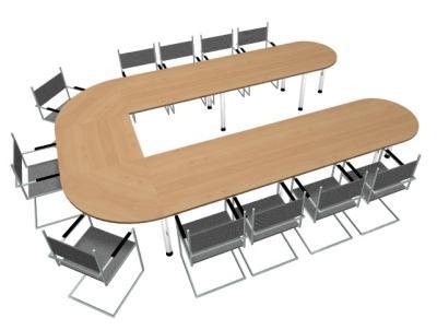 Konferenztisch U-Form Besprechungstisch - Vorschau 3