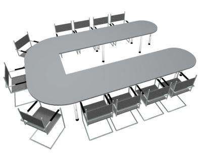 Konferenztisch U-Form Besprechungstisch - Vorschau 4