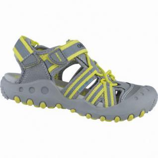 Geox sportliche Jungen Synthetik Sandalen grey, anatomisches Geox Fußbett, 3538119