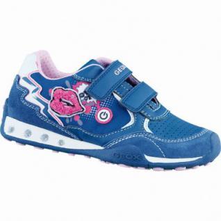 Geox J N Nocker coole Mädchen Sneakers navy, Leder Synthetik kombiniert, Antishock Leder Fußbett, 3336145