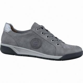 Jenny Seattle sportliche Damen Synthetik Sneakers graphit, Weite G, Luftpolstersohle, Jenny Fußbett, 1337124