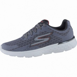 Skechers GO Run 400 coole Herren Synthetik Sneakers charcoal red, GOga-Run-Fußbett, 4238182