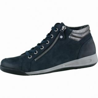 ARA Damen Winter Leder Sneaker blau, Weite G, 1335101