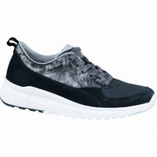 Legero modische Damen Velourleder Halbschuhe schwarz, herausnehmbares Legero-Leder-Fußbett, Comfort Weite G, 1236259