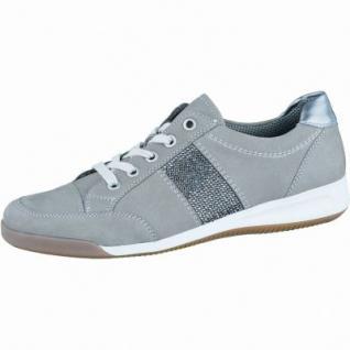 Ara Rom modische Damen Sommer Sneaker grigio gun, Leder, Ara Lederfußbett, Comfort Weite G, 1336134