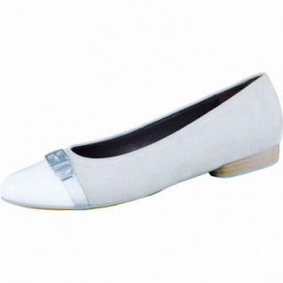 Jenny Pisa modische Damen Synthetik Ballerinas weiß silber lino, Jenny Fußbett, Comfort Weite G, 1336140