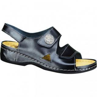Seklo Living Damen Sandaletten schwarz, Leder, 1532150