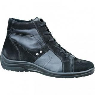 Waldläufer Damen Leder Stiefel schwarz, Weite H, 1733106