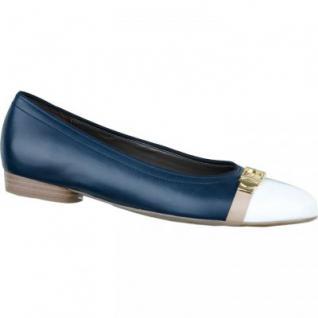 Jenny by ara Damen Leder Ballerinas blau, Weite G, 1334154/3.5