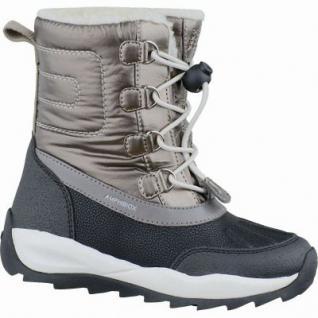 Geox J Orizont Mädchen Synthetik Winter Amphibiox Boots dark gold, molliges Warmfutter, warmes Fußbett, 3737132