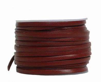 Ziegenleder Lederriemen, Lederband flach mittelbraun, Länge 25 m, Breite ca. 3 mm, Stärke ca. 1, 0 mm