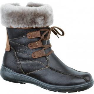 Jomos Damen Lammfell Leder Boots braun, Weite H, 1733105/37