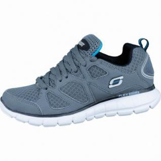 Skechers modische Jungen Synthetik Sneakers charcoal black, gepolstertes Skechers-Fußbett, 4036144