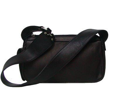 Damen Leder Handtasche schwarz, 2 separate Fächer