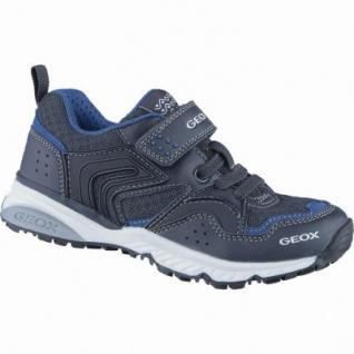 Geox sportliche Jungen Synthetik Sneakers navy, Geox Leder Fußbett, 3338145