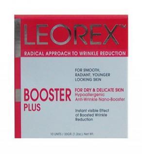 Leorex Booster Plus Gesicht empfindliche Haut, Anti Aging für eine sofortige Straffung der Haut, 10 Packs, 33 gr=1672, 73 ¤/1 kg