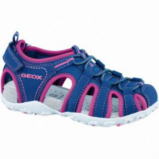 Geox JS Roxanne sportliche Mädchen Synthetik Trekking Sandalen navy purple, belüftetes Leder Fußbett, 3536110/31