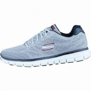 Skechers Skech-Knit modische Herren Synthetik Sneakers light grey black, Skechers Memory-Foam-Gel-Infused-Fußbett, 4036169/42