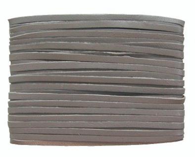 weiches Leder Flechtband Ziegenleder auf Karte dunkelgrau, Länge 10 m, Breite ca. 2, 5 mm, Stärke ca. 1, 0 mm