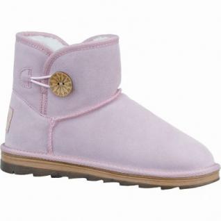 Marco Tozzi coole Damen Velourleder Boots rose, molliges Warmfutter, mollig warmes Fußbett, 1637251