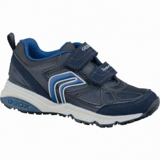 Geox J Bernie modische Jungen Synthetik Sneakers navy, Antishock, Leder Fußbett, 3337118