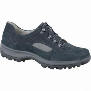 Waldläufer Holly 25 Damen Leder Trekking Schuhe notte, Weite H, für lose Einlagen, Lederfußbett, 1337121