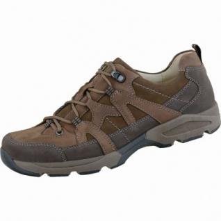 Waldläufer Hulk 18 Herren Leder Trekking Schuhe brasil moro, Weite H, Lederfutter, Leder Fußbett, 2237123
