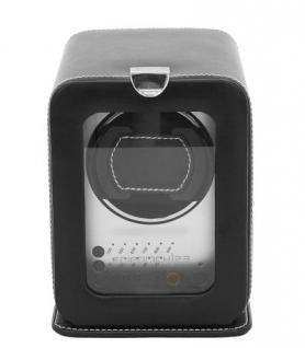 Friedrich Lederwaren Leder Uhrenbeweger für 1 Automatikuhr schwarz, Serie London, ca. 19, 5x13x17, 5 cm