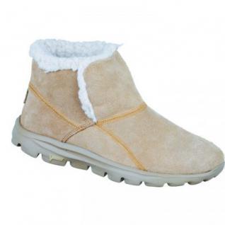 Skechers Damen Winter Velourleder Boots beige, 1633315
