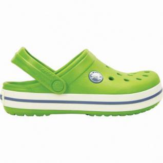 Crocs Crocband Kids Mädchen und Jungen Clogs parrot green, verstellbarer Fersenriemen, 4336104/33-34