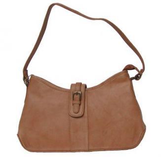 Leder Handtasche, Damentasche, Tasche für Damen, 5 Fächer, camel