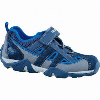 Geox J Aragon coole Jungen Synthetik Sommer Sneakers navy royal, Antishock Leder Fußbett, 3536116