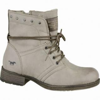 Mustang trendige Mädchen Leder-Imitat Winter Boots taupe, molliges Warmfutter, warme Decksohle, 3737116