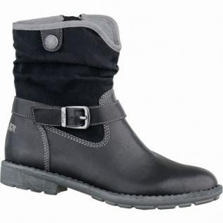s.Oliver coole Mädchen Leder-Imitat Stiefel schwarz, Warmfutter, Soft-Foam-Decksohle, 3737102