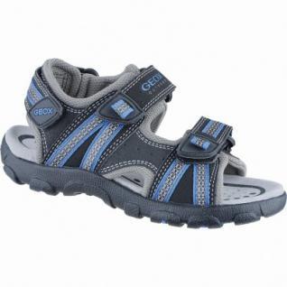 Geox sportliche Jungen Synthetik Sandalen black, Geox Leder Fußbett, 3538115