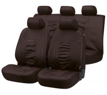 Universal Kunstleder Auto Sitzbezüge braun 8-teilig, Komplett Set