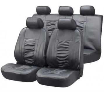 Universal Kunstleder Auto Sitzbezüge grau, 8-teiig, Komplett Set