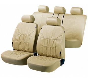 Universal Auto Soft Kunstleder Sitzbezüge beige, 8-teilig, Komplett Set