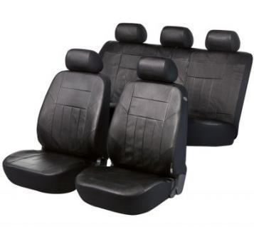 Universal Soft Kunstleder Auto Sitzbezüge schwarz, 8-teilig, Komplett Set